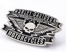 Harley Davidson Skull Logo Die Cast Pin Motorcycle Vest Jacket Pin Biker