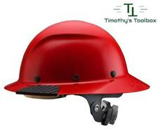 Lift Safety Dax Red Full Brim Hard Hat With Ratchet Suspension