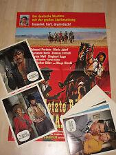 DER LETZTE RITT NACH SANTA CRUZ 24 Fotos Plakat KLAUS KINSKI Mario Adorf Western