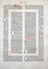 INKUNABEL BLATT DECRETUM GRATIANUS SCHÖFFER MAINZ BÜTTEN VIELE INITIALEN 1472