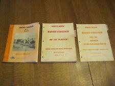 Lot of 3-MASSEY FERGUSON MANUALS PARTS BOOKs- #3 Baler, #30 Mower, MF135 Tractor