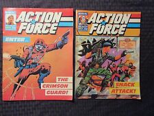 1987 Marvel UK Weekly ACTION FORCE #6 7 8 10 LOT of 4 FVF