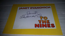 To the Nines SIGNED book plate by Janet Evanovich
