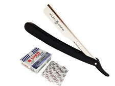 100 BLADES BARBER SALON STRAIGHT CUT THROAT SHAVING RAZOR SHAVETTE RASOIRS BLACK