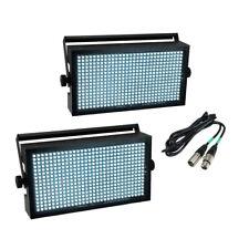 2x EUROLITE LED SUPER STROBO BIANCO EFFETTO di Illuminazione DMX Blinder Wash Bundle