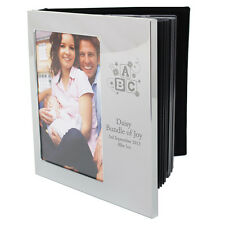 PERSONALISED ENGRAVED SILVER BAPTISM CHRISTENING BABY PHOTO FRAME ALBUM ABC GIFT