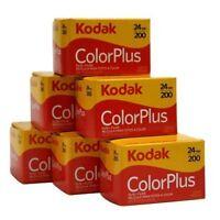 Kodak 35mm ColorPlus 200 ASA Film  24 Exposures  6 Pack