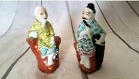 Antique Porcelain statue CHINESE stars Wise old men VTG Rare figurine figure USA