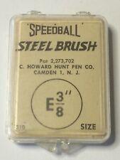 "Vintage Speedball Calligraphy Steel Brush E 3/8"""