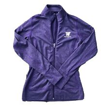 University of Washington Huskies Purple Full Zip Athletic Jacket, UW, Women's XS