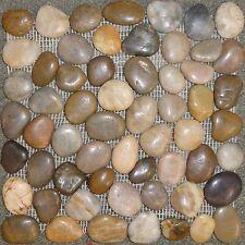 Mixed Color Interlocking Pebble Stone Mosaics