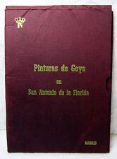 RARE VINTAGE GOYA POSTCARDS BOOK PINTURAS DE GOYA EN SAN ANTONIO DE LA FLORIDA