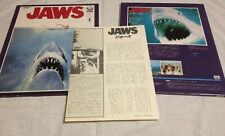 Japanese JAWS VHD Video Disk Japan Spielberg Shark Disc Home Video laserdisc