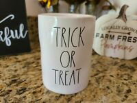 Rae Dunn TRICK OR TREAT double sided MUMMY Halloween Candle Vanilla Scent
