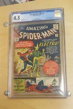 The Amazing Spider-Man #9 (Feb 1964, Marvel Comics) CGC 4.5 VG+   1st Electro