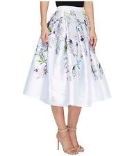 TED BAKER Passion Flower parrot bird floral print fit&flare full skirt midi 3 12