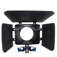 Matte Box for 15mm Rail Rod Support Follow Focus Rig System for DSLR Camera