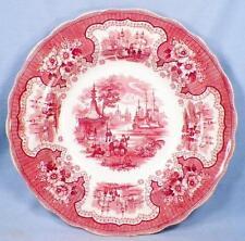Antique Pink Transferware Bowl Palestine Gazebo Persian People Horse Adams 1864