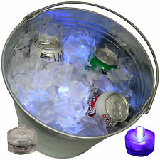 12 Purple LED Ice Bucket Tub Submersible Light Tailgate Super Bowl Party No