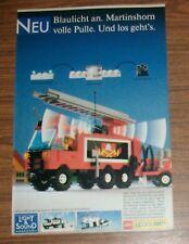 Seltene Werbung LEGO Legoland Town 6480 Light & Sound Feuerwehr Leiterwagen 1988