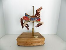 The Great American Carousel Horse Tobin Fraley Animated Music Box w/ Tin [video]
