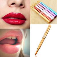Beauty Women Portable Retractable Cosmetic Lip Brush Lipstick Gloss Makeup Tool