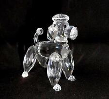 Swarovski Silver Crystal Standing Poodle Figurine A 7619 MIB
