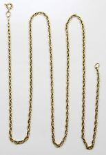 18k Yellow Gold Prince of Whales Chain Link Necklace
