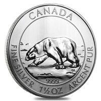 2013 1.5 oz Canadian Silver Polar Bear $8 Coin .9999 Fine BU