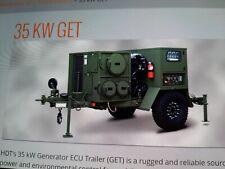 Military 35kw Ac Diesel Quiet Generator 96k Btu Air Conditioner Drash Trailer