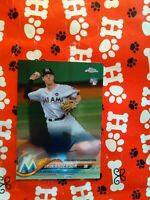 2018 TOPPS CHROME BRIAN ANDERSON ROOKIE AUTOGRAPH CARD MIAMI MARLINS
