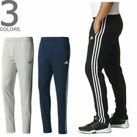 Adidas Mens Fleece Tracksuit Pants Jogging Bottoms Joggers Black Navy Grey
