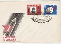 Poland 1961 Space Man in Rocket with Star FDC Stamps Cover ref R18824