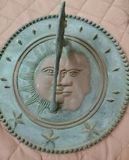 Sundial Sun And Moon Faces Yard Ornament Made in Taiwan