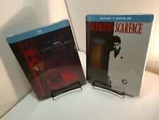 Scarface + Carlito's Way (Blu-ray) Exclusive Steelbook-Sealed (NEW)Free Box S&H~
