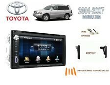 2001-2007 TOYOTA HIGHLANDER CAR STEREO KIT, BLUETOOTH TOUCHSCREEN DVD USB