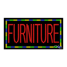 "New ""Furniture"" 32x17x1 Border Solid & Animated Led Sign w/Custom Options 21076"
