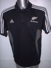 New Zealand Training Polo Adult L Adidas Rugby Union Shirt Jersey All Blacks Top