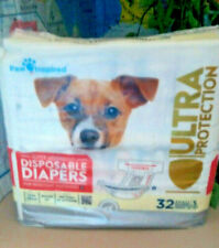 ULTRA PROTECTION Disposable| Female Dog Diapers by Paw Inspired >Small >32ct