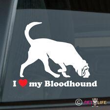 I Love My Bloodhound Sticker Die Cut Vinyl - blood hound