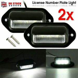 Universal License 2X LED Number Plate Light Lamp for Car Truck SUV Trailer Lorry