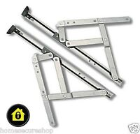 "UPVC Window Hinges Friction Stays 8"" 10"" 12"" 16"" 20"" 24"" Inch (One Pair)"