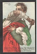 ITALIA REGNO CARTOLINA POSTALE 1918 PRESTITO NAZIONALE DISEGNO BORGONI