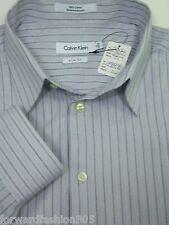 """Calvin Klein""$65.00 Mens SLIM FIT** Long sleeve Button shirt.. In Eggshell whit"