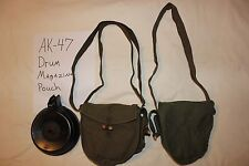 Military Rifle 7.62x39 Drum Magazine Pouch for 75 Round Drum Canvas Lot of 2