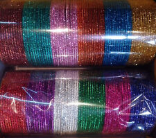 144  Bollywood India Belly Dance SHINY Bangles Bracelets in Colors 2.8 US SELLER