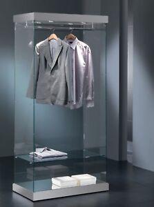 Vetrina Vetrinetta Espositore Vetro serratura vetro cristallo con appendiabiti