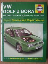 Haynes manual VW Volkswagen Golf Bora April 1998 - 2000 R-X 4 cyl petrol diesel