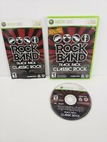 Rock Band Track Pack: Classic Rock (Xbox 360, 2009) Complee with Manual Tested