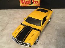1/24 Maisto '70 Boss 302 Mustang Yellow With Black Stripes, Muscle Car